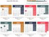 Календар за 2019 с работните, почивните и празничните дни