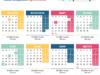 Календар за 2020 с работните, почивните и празничните дни